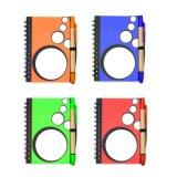 PP plástico Wholesales Precio Bloc de notas Cuaderno de Trabajo de la escuela con el lápiz