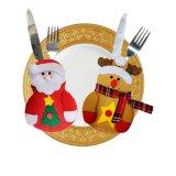 Bolsos coloridos y de la decoración al por mayor de la Navidad de la cuchillería