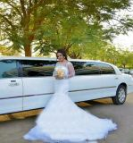 Реальный сделанный шнурок Marmaid плюс платье венчания размера