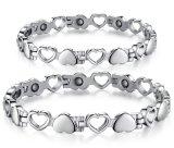 La figura magnetica del cuore dei braccialetti degli uomini delle donne dell'acciaio inossidabile di stile dei magneti del braccialetto di salute sveglia degli uomini coppia i Wristbands
