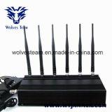 6本のアンテナ携帯電話、GPS及びRFの妨害機(315MHz/433MHz)