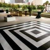 Noce en bois Dance Floor de contre-plaqué noir et blanc en gros