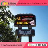 Alta qualidade P6mm Outdoor LED a cores de tela de exibição de publicidade para instalação fixa