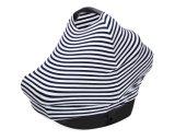 Pabellón blanco y negro clásico de la cubierta de Carseat del bebé de la raya