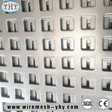 Feuille de décoratifs en aluminium de construction en plastique de clôture de la plaque perforée