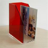 プレキシガラスマガジン表示ポケットアクリルの本のホールダー