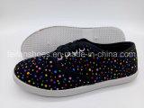 Ботинки отдыха ботинок холстины шнурка женщин Hotsale плоские (FPY818-12)