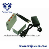 Jammer do telefone de pilha com de controle remoto (CDMA, G/M, DCS e 3G)
