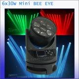 6*30W 단계 LED 광속 이동하는 맨 위 빛