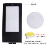 108 lampada solare di alto potere esterno dell'indicatore luminoso 15W del sensore di radar di a microonde del LED