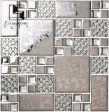 Mattonelle di mosaico d'acciaio dorate e d'argento per l'hotel