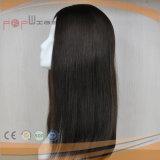 Peluca superior de las mujeres del pelo humano de la piel blanca del pelo humano (PPG-l-01088)