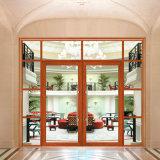 Puerta de cristal del resorte del marco de aluminio de lujo del diseño para el edificio de oficinas