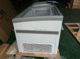 Congélateur chaud de poitrine d'île de vente avec la porte en verre de glissement