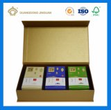 Boîte-cadeau de empaquetage de papier estampée par Cmyk personnalisée pour des produits de santé
