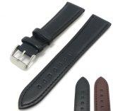 Faixa de relógio em pele genuína 18mm 20mm 22mm correias programável impermeável com pino de metal Fivela tira de couro de vaca