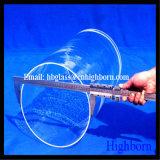 Claro de alta pureza Grande tubo de cristal de cuarzo.