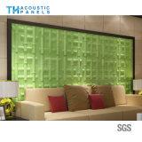 Panneau de mur sain décoratif intérieur de l'imperméabilisation 3D de fibre de polyester d'imperméabilisation d'incendie pour le fond