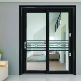 Porte coulissante de la porte intérieure 90 en aluminium blancs de perle