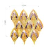Mattonelle di vetro di arte del mosaico dell'oro materiale decorativo per i pavimenti della stanza da bagno
