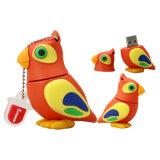 Crayons lecteurs animaux du cadeau USB d'oiseaux de perroquet