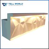 Tw marbre artificiel comptoir de réception de bureau