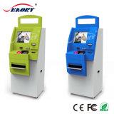 De dubbele Multifunctionele Muntstuk In werking gestelde Kiosk WiFi van het Scherm met de Acceptor van het Contante geld en de Lezer van de Bankkaart