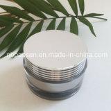 vaso crema acrilico d'argento di lusso 50g per l'imballaggio di Skincare (PPC-NEW-128)