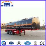 28tons 1.5mm de Semi Aanhangwagen van de Tanker van het Asfalt van het Bitumen van Clading van het Roestvrij staal
