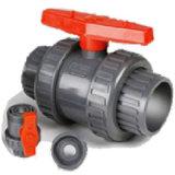 El PVC verdadera unión de las válvulas para el suministro de agua