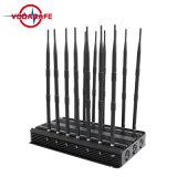 14 de Stoorzender van de antenne voor 2g+3G+2.4gwifi +Remote Control+Gpsl1+Lojack, de Regelbare Stoorzender van de Afstandsbediening van 14 van de Antenne Telefoons van de Cel (3G, GSM, CDMA, DCS)