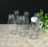 Drucken-quadratische Milch-Saft-Flasche anpassen