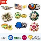 Нет MOQ поощрения Логотип моды 3D Металлическая булавка военной полиции Армии Car Тин кнопку мягкий жесткий эмаль имя Gold пустым эмблемы эмблемы для рекламных подарков