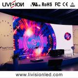 Visor LED de fundo estágio P3.9 tela LED LED de aluguer no interior da parede de vídeo