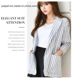 Vrouwen de Laag van Dame Black&White Stripe Blazer Office Jasje