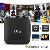 Androider Fernsehapparat-Kasten Tx2 Rk3229 2GB RAM/16GB ROM-Support zutreffendes 4K gesetzten Spitzenkasten spielend