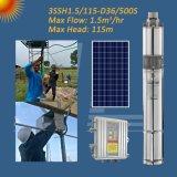 3 дюймовый винт солнечной энергии головки блока цилиндров насоса, солнечного сельского хозяйства с контроллером MPPT насоса