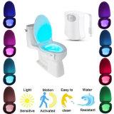 Wc Noche de Luz 8 LED de color del sensor de movimiento activado el tazón de detección de luz