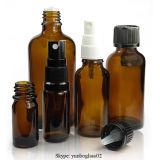 5-100ml Amber Esenciales botellas de vidrio de aceite con tapa de plástico