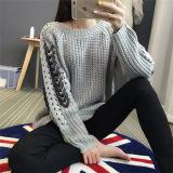 Da camisola nova do inverno do projeto das mulheres luvas longas de confeção de malhas do pulôver