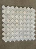 Thassos Mosaico de Mármol de Vidrio Mixto de Mármol Blanco para Azulejo de Pared