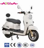 Motocicleta elétrica de duas rodas com assento de passageiro