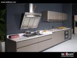 Armário de cozinha lacados Padrão Welbom definir com bancada e Pia