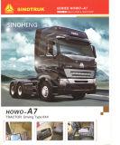6X4 10wheels 트랙터 트럭을 운전하는 Sinotruk HOWO A7