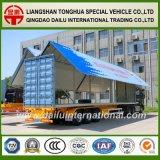 Box Van Wing Open Type 3 de Semi die Aanhangwagen van de As voor de Hulpmiddelen van het Stadium en Elektronische Producten wordt gebruikt