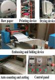 Máquina de papel de toalha automática cheia do guardanapo da impressão de cor dois