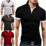 최신 판매 간결 소매 공백 면 200GSM 남자의 폴로 셔츠