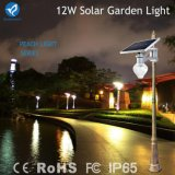 luz solar da parede do sensor de movimento do diodo emissor de luz 12W com módulo solar
