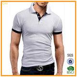 熱い販売の不足分の袖のブランクの綿200GSMの人のポロシャツ