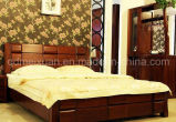 固体木のベッドの現代ダブル・ベッド(M-X2345)